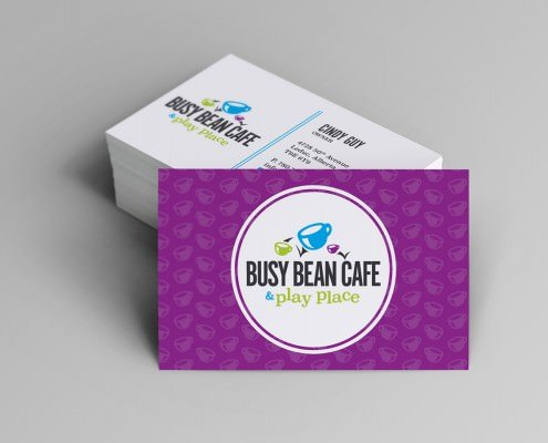 Edmonton Graphic Design | Busy Bean Cafe Business Card