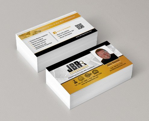 Edmonton Graphic Design | JBR Inspections Business Card