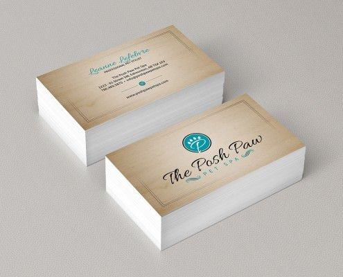 Edmonton Graphic Design | The Posh Paw Pet Spa Business Card