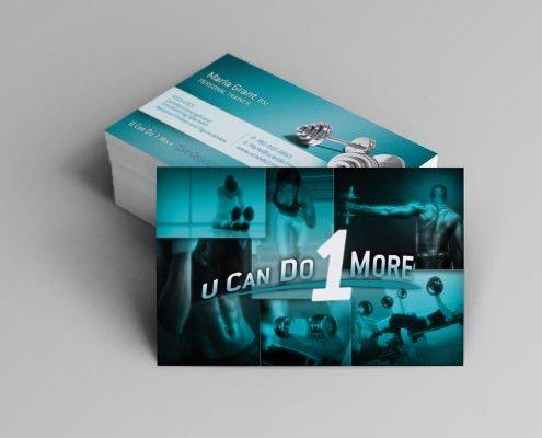 Edmonton Graphic Design | U Can Do 1 More Business Card