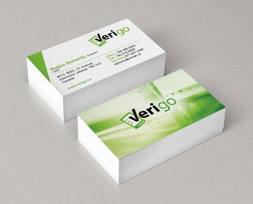 Edmonton Graphic Design   Verigo Business Card