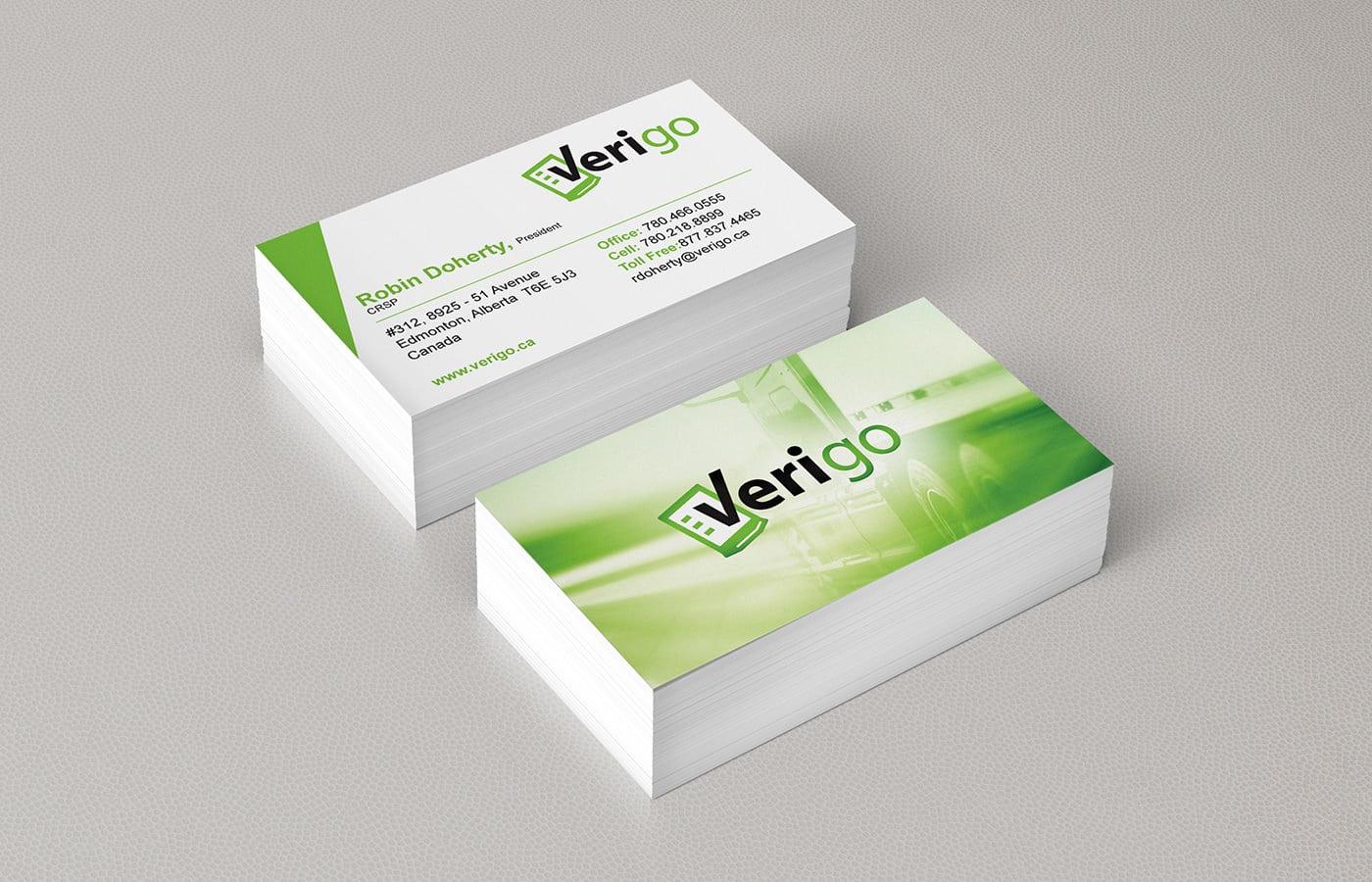 Edmonton Graphic Design | Verigo Business Card