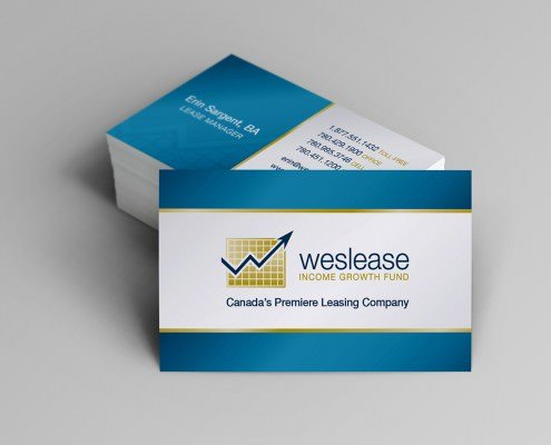 Edmonton Graphic Design | Weslease Income Growth Fund Business Card