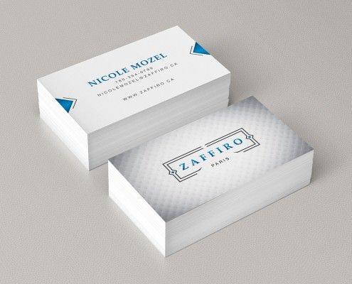 Edmonton Graphic Design | Zaffiro Apparel Business Card