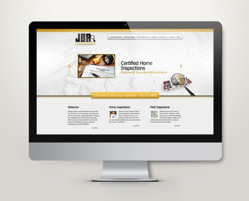 Edmonton Website Design | JBR Inspections Website