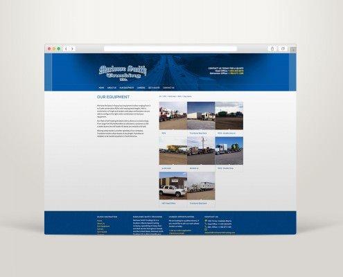 Edmonton Website Design | Marlowe Smith Trucking Website