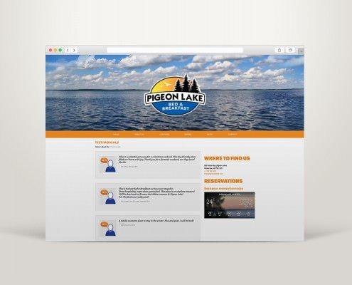 Edmonton Website Design | Pigeon Lake Bed and Breakfast Website