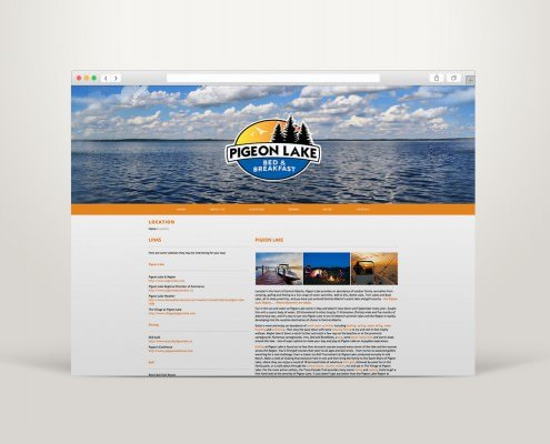 Edmonton Website Design | Pigeon Lake Bed and Breakfast Website