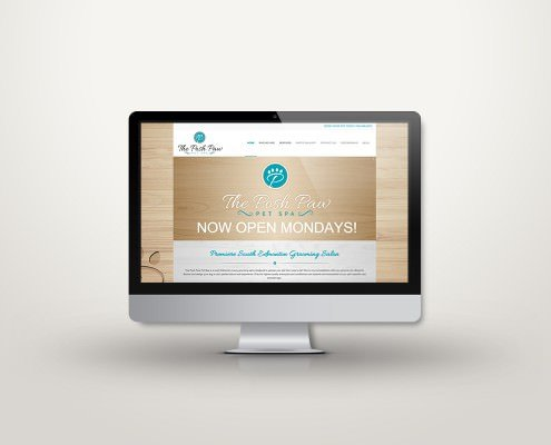 Edmonton Website Design | The Posh Paw Pet Spa Website