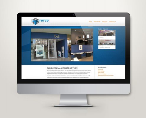 Edmonton Website Design | Totco Construction Website