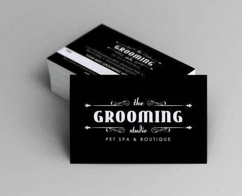 Edmonton Graphic Design | The Grooming Studio Business Card