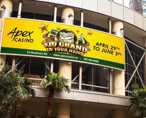 Edmonton Graphic Design | Apex Casino Billboard