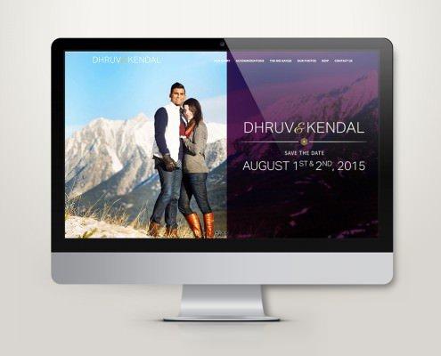 Edmonton Website Design   Dhruv and Kendal Wedding Website