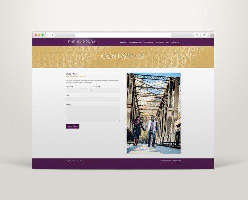 Edmonton Graphic Design   DK Wedding Website
