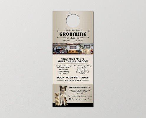 Edmonton Graphic Design | The Grooming Studio Door Hanger