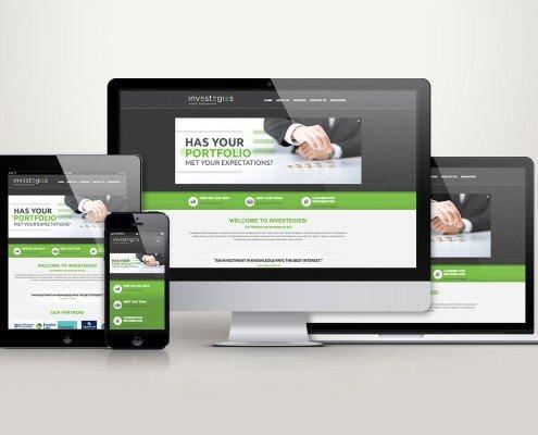 Edmonton Website Design   Investegies Wealth Management Website