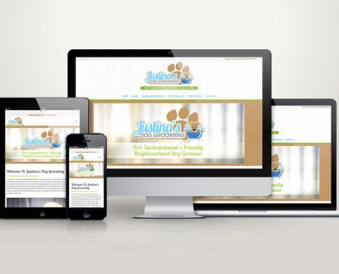 Edmonton Website Design | Justina's Dog Grooming Website