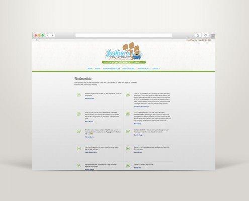 Edmonton Website Design   Justina's Dog Grooming Website