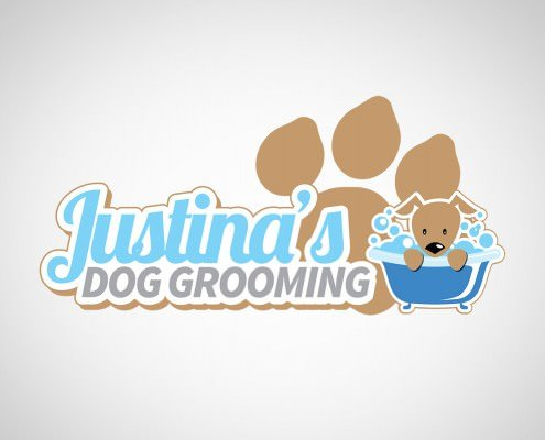 Edmonton Graphic Design | Justina's Dog Grooming Logo