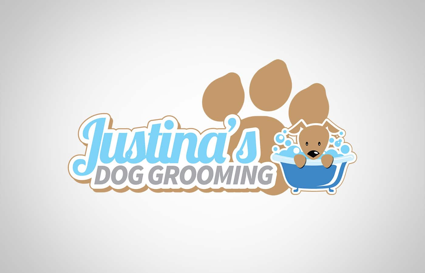 Edmonton Graphic Design   Justina's Dog Grooming Logo