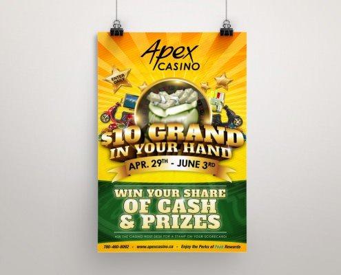 Edmonton Graphic Design | Apex Casino 10 Grand Poster