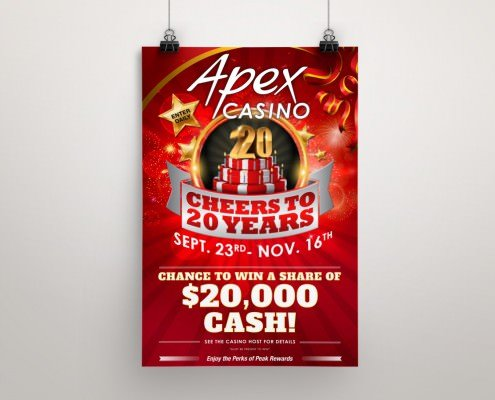 Edmonton Graphic Design | Apex Casino Poster