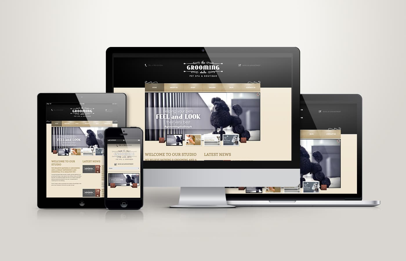 Edmonton Website Design | The Grooming Studio Website