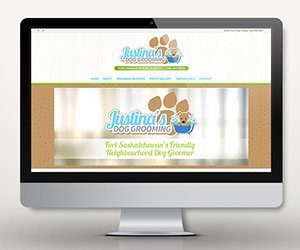 Edmonton Graphic Design | Justina's Dog Grooming