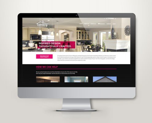 Edmonton Website Design | Tomboy Construction Website