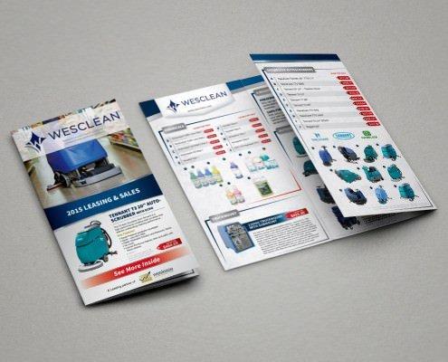 Edmonton Graphic Design | Weslease Partner Brochure Wesclean