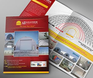 Edmonton Graphic Design   All Weather Shelters Product Brochure