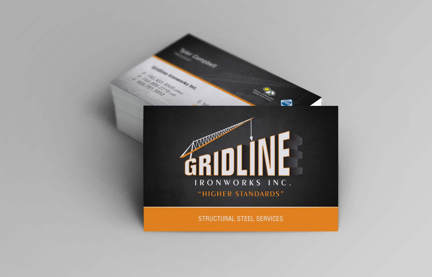 Edmonton Graphic Design | Gridline Ironworks Business Card