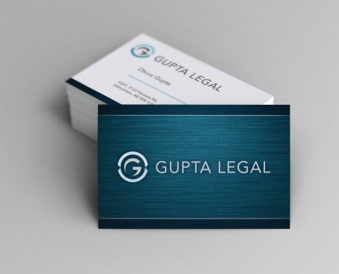 Edmonton Graphic Design | Gupta Legal Business Card
