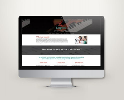 Edmonton Website Design   Largesse School of Musical Arts Website