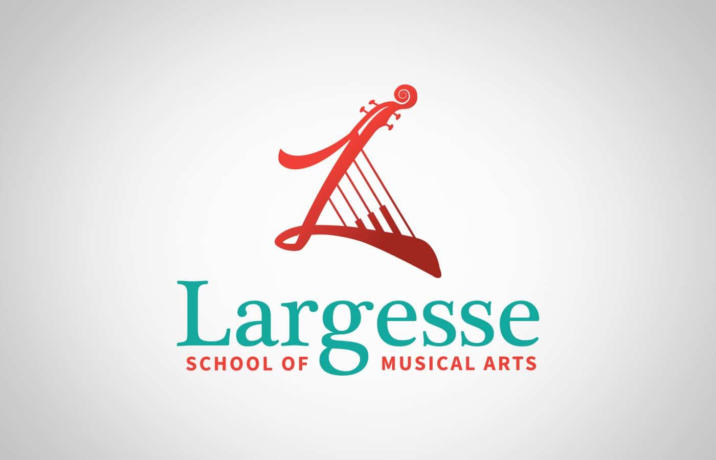 Edmonton Graphic Design   Largesse School of Musical Arts Logo