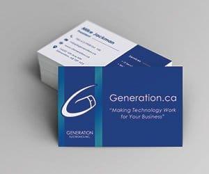 Edmonton Graphic Design   Generation Electronics Business Card